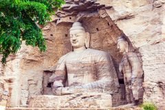 Yungang grottor Arkivfoton