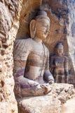 Yungang grottor Royaltyfri Bild