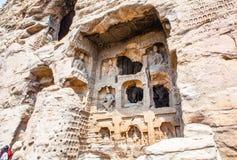 Yungang grottor Fotografering för Bildbyråer