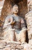 Yungang grottor Arkivbild