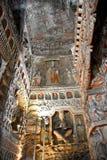 Yungang grottor, Datong, Shanxi, Kina arkivfoto