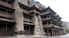 Yungang Höhlen Stockbild