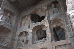 Yungang-Höhlen, Datong, China stockfotografie