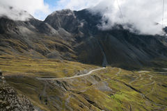 Yungas Valley, Bolivia. Road into Yungas valley of Bolivia, on the eastern slopes of the Andes near La Paz Royalty Free Stock Images