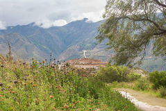 Yungay in Peru - The Campo Santo Memorial for the 1970 earthquake Stock Photos