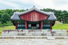 Yungneung and Geolleung Royal Tombs Korean traditional architecture in Hwaseong, Korea Royalty Free Stock Photography
