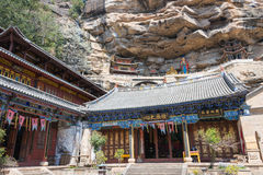 YUNNAN, ΚΊΝΑ - 21 ΜΑΡΤΊΟΥ 2015: Ο ναός Baoxiang σε Shibaoshan τοποθετεί Στοκ Εικόνες