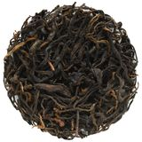 Yunnan Black Gold Black Tea round shape. Isolated royalty free stock photo