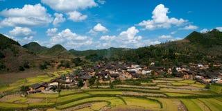 Yunnan, China. A beautiful village in Yunnan province, China stock photos