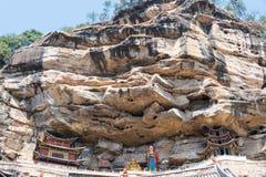 YUNNAN, CHINA - BRENG 21 2015 IN DE WAR: De Baoxiangtempel in Shibaoshan zet op Stock Afbeelding