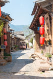YUNNAN, CHINA - BRENG 20 2015 IN DE WAR: Shaxi Oud dorp beroemde Anc royalty-vrije stock afbeelding