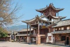 YUNNAN, CHINA - BRENG 20 2015 IN DE WAR: Shaxi Oud dorp beroemde Anc Royalty-vrije Stock Afbeeldingen