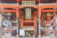 YUNNAN, CHINA - 20 DE MARÇO DE 2015: Templo de Xingjiao em Shaxi vi antigo Fotos de Stock Royalty Free