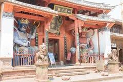 YUNNAN, CHINA - 20 DE MARÇO DE 2015: Templo de Xingjiao em Shaxi vi antigo Imagens de Stock