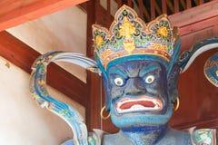 YUNNAN, CHINA - 20 DE MARÇO DE 2015: Templo de Xingjiao em Shaxi vi antigo Foto de Stock Royalty Free