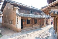 YUNNAN, CHINA - 22 DE MARÇO DE 2015: Vila antiga de Shaxi um ANC famoso Imagem de Stock