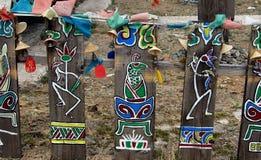 Yunnan, China: Dongba Wanshen Paintings Stock Image