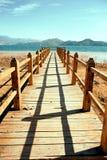Yunnan, China, het landschap van het Meer Lugu Stock Foto's
