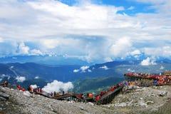 Yunnan, China Lijiang Jade Dragon Snow Mountain royalty-vrije stock afbeeldingen