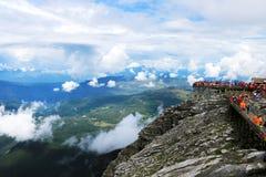 Yunnan, China Lijiang Jade Dragon Snow Mountain stock afbeelding