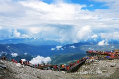 Yunnan, China Lijiang Jade Dragon Snow Mountain royalty free stock images