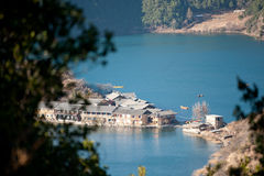 Yunnan, China, Lugu Lake scenery Royalty Free Stock Image