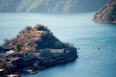 Yunnan, China, Lugu Lake scenery Royalty Free Stock Photos