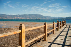 Yunnan, China, Lugu Lake scenery Stock Image