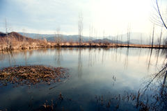 Yunnan, China, Lugu Lake scenery Royalty Free Stock Images