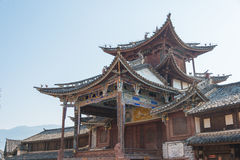 YUNNAN, CHINA - 20. MÄRZ 2015: Altes Dorf Shaxi eine berühmte ANC Lizenzfreies Stockbild