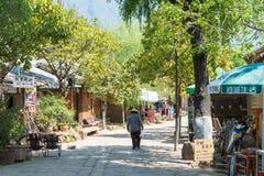 YUNNAN, CHINA - 20. MÄRZ 2015: Altes Dorf Shaxi eine berühmte ANC Lizenzfreie Stockfotos