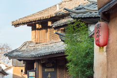 YUNNAN, CHINA - 21. MÄRZ 2015: Altes Dorf Shaxi eine berühmte ANC Lizenzfreie Stockfotos