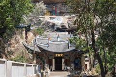 YUNNAN, CHINA - 21. MÄRZ 2015: Baoxiang-Tempel an Shibaoshan-Berg Lizenzfreies Stockfoto