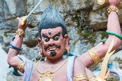 YUNNAN, CHINA - 21. MÄRZ 2015: Baoxiang-Tempel an Shibaoshan-Berg Stockbilder