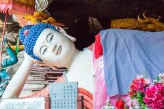 YUNNAN, CHINA - 21. MÄRZ 2015: Baoxiang-Tempel an Shibaoshan-Berg Lizenzfreie Stockbilder