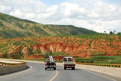 Yunnan, China: National Road G213 Royalty Free Stock Image
