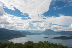 YUNNAN, CHINA - SEP 9 2014: Lugu Lake. a famous landscape in Lij Stock Photography