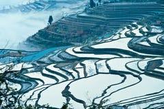 Yunnan, China, Yuanyangtitian, clouds around, the Stock Images