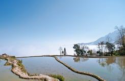 Yunnan, China, Yuanyangtitian, clouds around, the Royalty Free Stock Photography