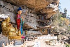 YUNNAN, CHINE - 21 MARS 2015 : Temple de Baoxiang au bâti de Shibaoshan Photo libre de droits