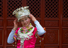 Yunnan Chinese girl in national dress Stock Image