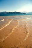 Yunnan, Chiny, Lugu jeziora sceneria Zdjęcie Royalty Free