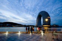 Yunnan, Chiny, Lugu jezioro sceneria Zdjęcia Royalty Free
