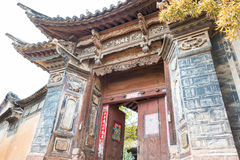 YUNNAN CHINY, MAR 22 2015, -: OUYANG dom przy Shaxi Antyczny v Obraz Royalty Free
