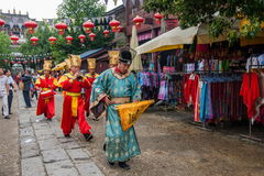 Yunnan Dali Dragon City antes de executar a cerimônia aberta do visitante desejado das portas Foto de Stock Royalty Free
