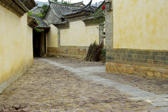 Yunnan Honghe ancient buildings in rural old house Stock Photography