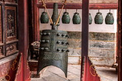 Yunnan Honghe Prefecture Jianshui Temple Great Hall courtyard bells Royalty Free Stock Image