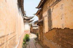 YUNNAN KINA - MARS 22 2015: OUYANG-HUSET på Shaxi forntida v royaltyfri foto