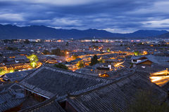 Yunnan Lijiang Ancient Town Night Stock Image