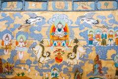 Yunnan Lijiang Naxi alei legend i mitów malowidła ściennego wielka sztuka Zdjęcie Royalty Free